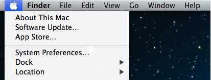 Screenshot of System Preference