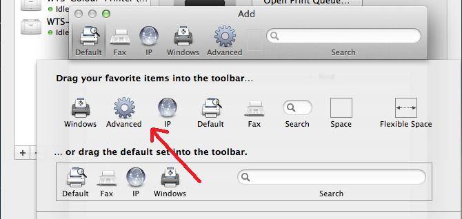 Screenshot of advanced icon selected