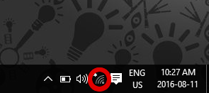 screenshot of wireless network icon in the system tray