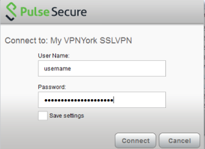 Screenshot of window showing Enter PPY username and password