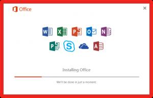 Screenshot MS Office beginning installation