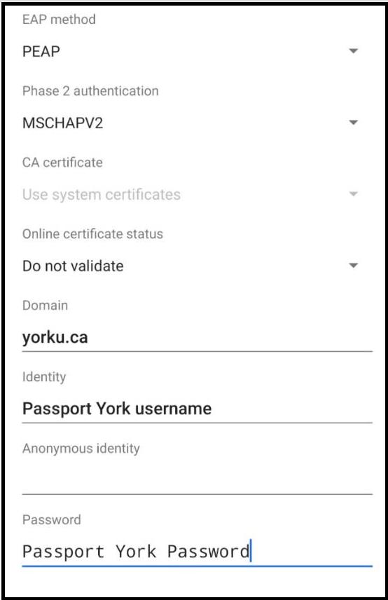 AirYorkPlus settings